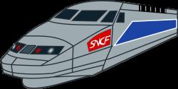 Locomotive clipart fast train