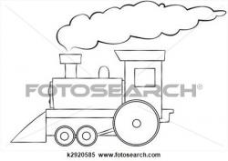 Smoking clipart train smoke