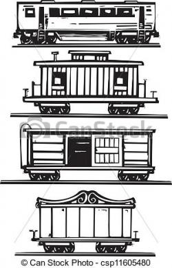 Drawn railroad train car