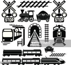 Locomotive clipart train stop