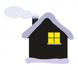 Lodge clipart christmas cottage