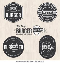 Burger clipart logo design