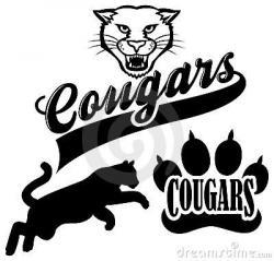 Drawn cougar mascot