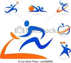 Logo clipart fitness