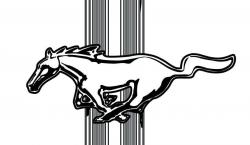 Logo clipart ford mustang