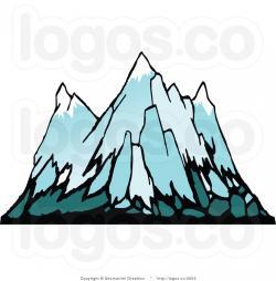 Glacier clipart snowy mountains