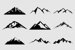 Logo clipart mountain