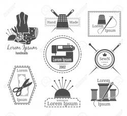 Logo clipart sewing