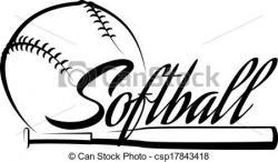 Logo clipart softball