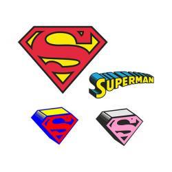 Super Girl clipart logo