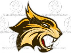 Wildcat clipart cartoon