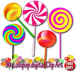 Lollipop clipart colourful