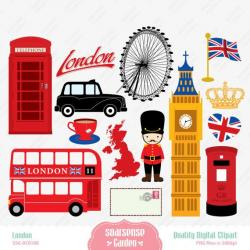 Poster clipart london art