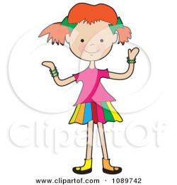 Little Girl clipart thin
