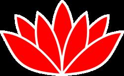 Red Flower clipart cartoonized