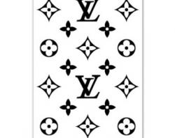 Louis Vuitton clipart black and white