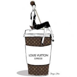Louis Vuitton clipart fashion illustration