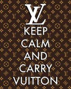 Louis Vuitton clipart keep calm