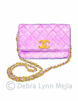 Louis Vuitton clipart pink purse