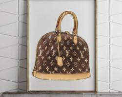 Louis Vuitton clipart watercolor