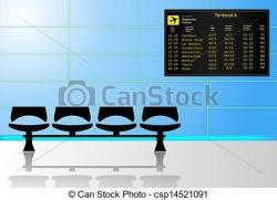 Lounge clipart aeropuerto