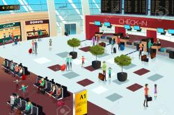 Lounge clipart airport counter
