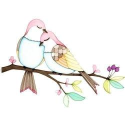 Drawn lovebird true love