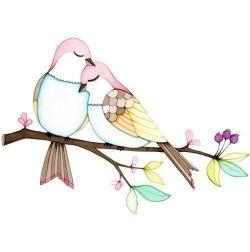 Drawn lovebird true love
