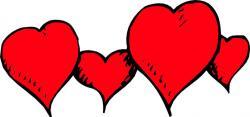 Hearts clipart row clipart