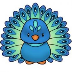 Cute clipart peacock