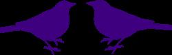 Brds clipart purple