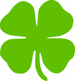 Green clipart four leaf clover
