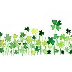 Field clipart four leaf clover