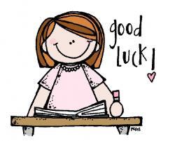 Luck clipart kid exam