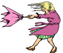 Umbrella clipart windy weather