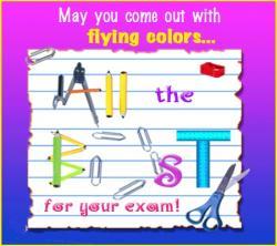 Luck clipart written exam