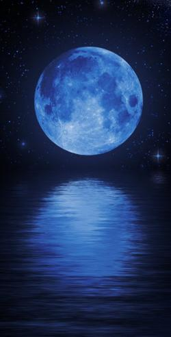 Moonlight clipart blue moon