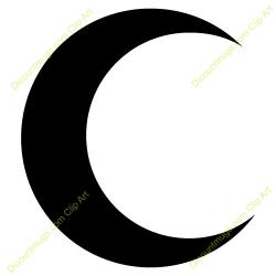 Eclipse clipart half moon