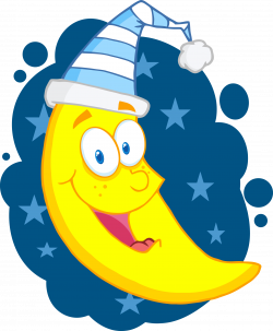 Night Sky clipart smiling moon
