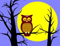 Moonlight clipart tree