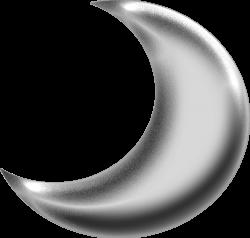 Silver clipart half moon