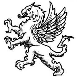 Griffon clipart heraldic