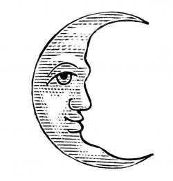 Lunar clipart line drawing