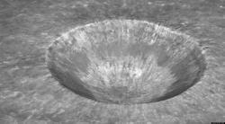 Meteor clipart moon crater