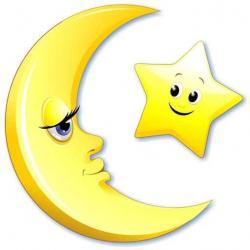 Lunar clipart moon star