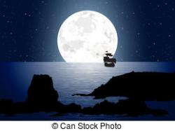 Moon clipart moonlight