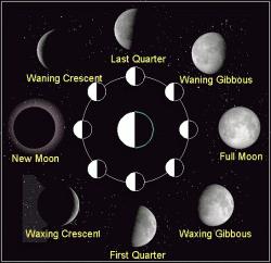 Lunar clipart new moon