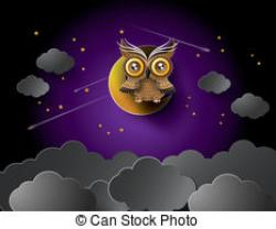 Lunar clipart night owl