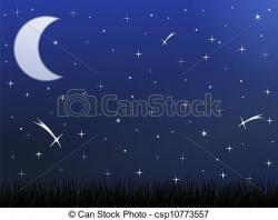 Lunar clipart night sky