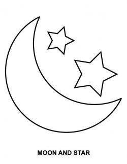 Drawn stare moon